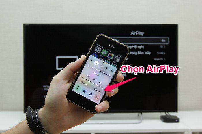 phản chiếu màn hình iphone