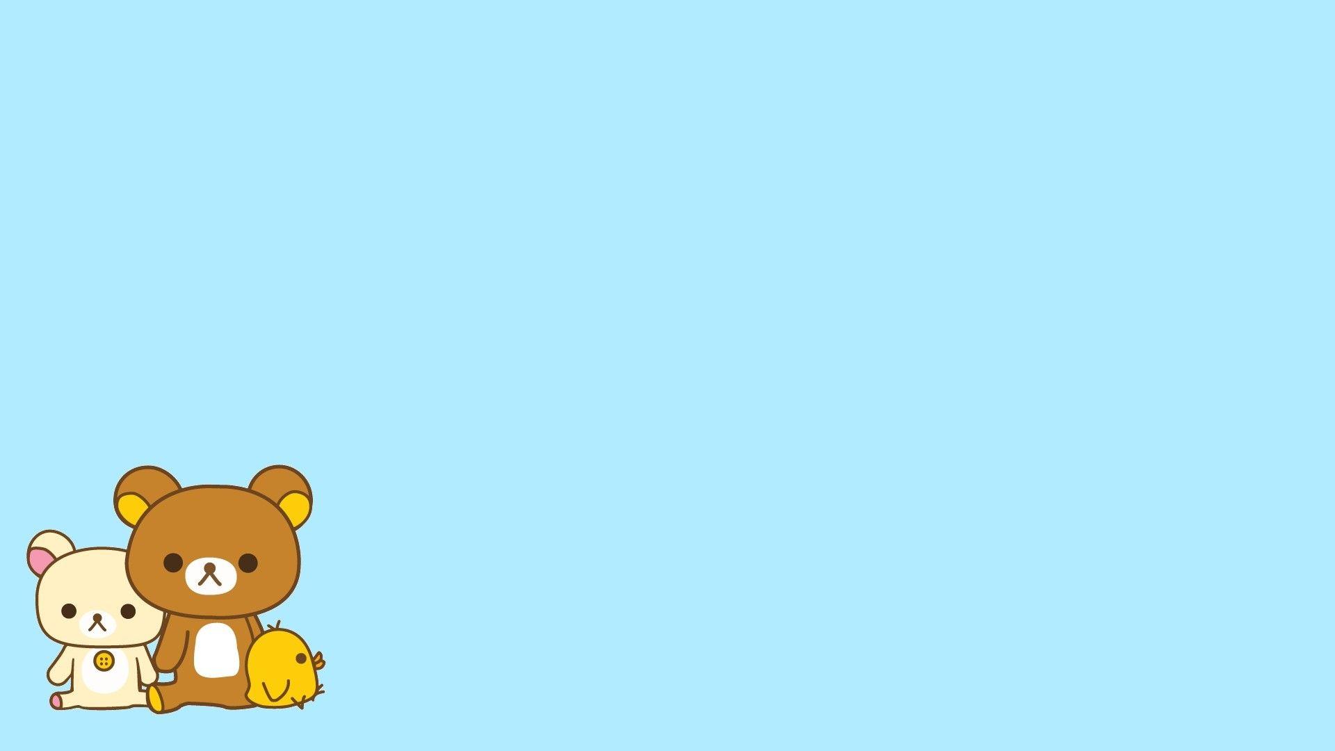Hình nền Powerpoint dễ thương với 2 chú gấu cute