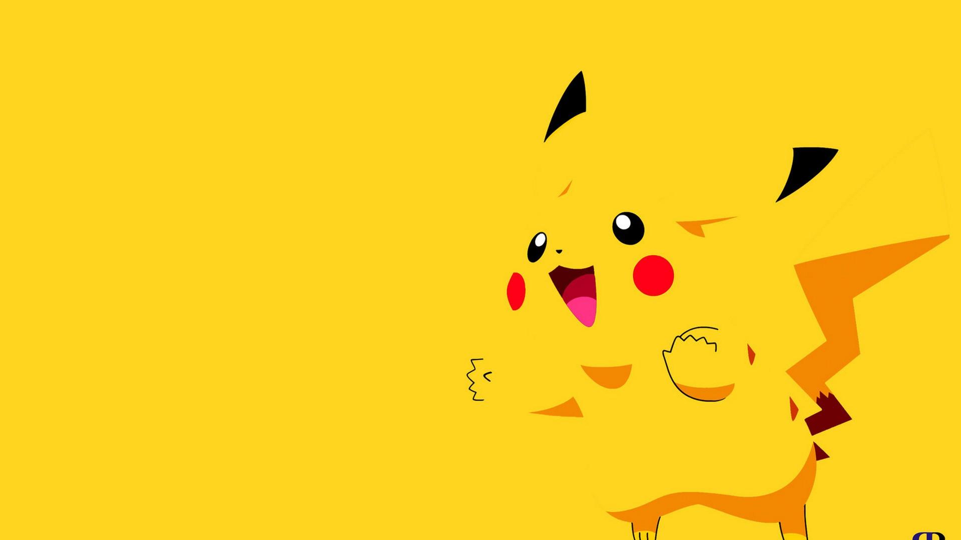 Hình 8: Hình nền Powerpoint dễ thương Pikachu