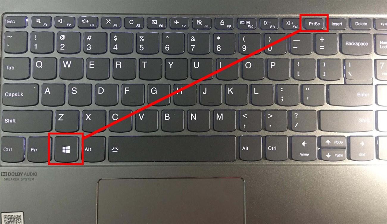 nhấn tổ hợp phím Windows + PrtSc (Print Screen) để chụp màn hình tự động