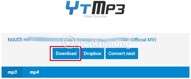 Tùy chọn lưu file nhạc MP3 đã chuyển đổi