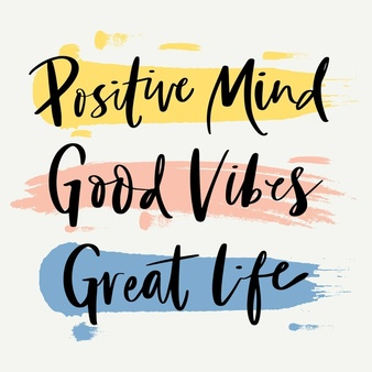 Free Vector | Positive mind lettering concept